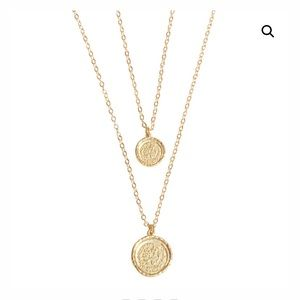 Jewelry - Amber Sceats Double Coin necklace .